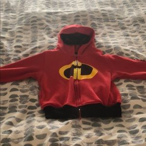 Incredibles zip up sweatshirt